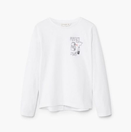 Mango Girls Printed Cotton T-Shirt