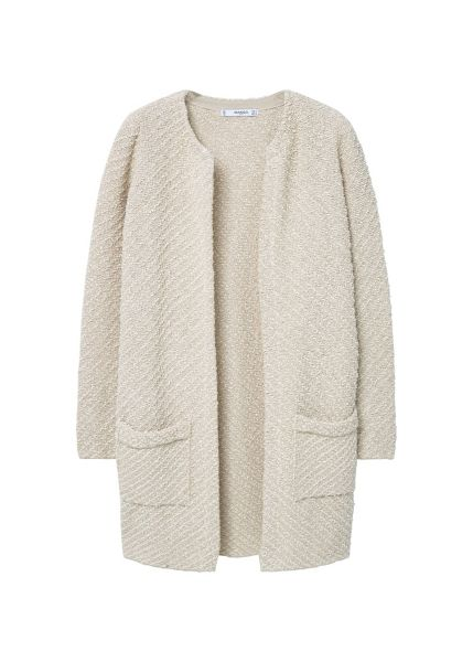 Mango Textured cotton cardigan.