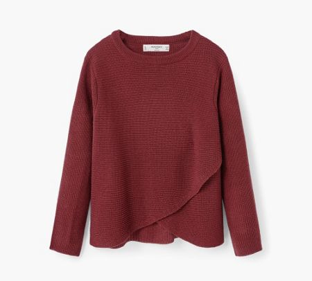 Mango Girls Textured crossover Jumper