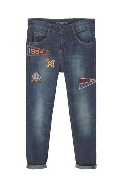 Mango Boys Embroidered patch jeans