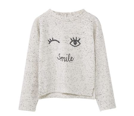 Mango Girls Flecked printed sweatshirt