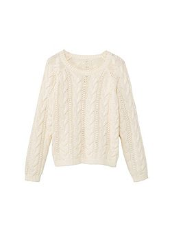 Girls Cable-knit cotton sweater