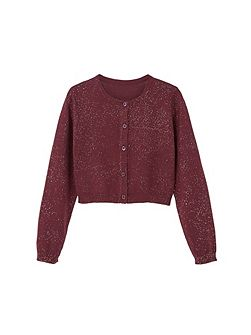 Girls Flecked cotton-blend cardigan