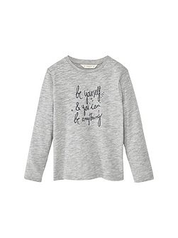 Girls Message cotton t-shirt