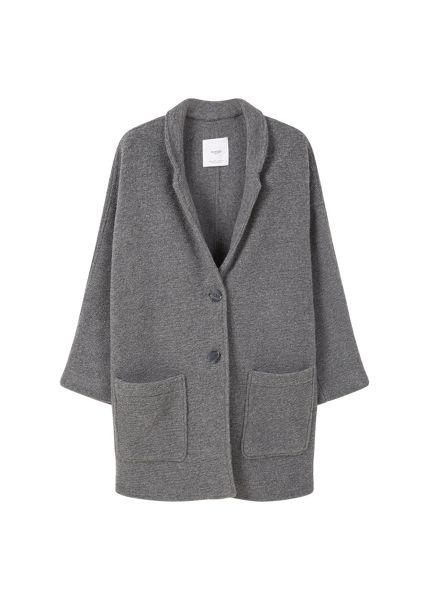 Mango Texture unstructured coat