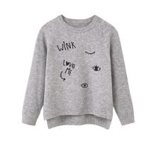 Mango Girls Embroidered wool sweater