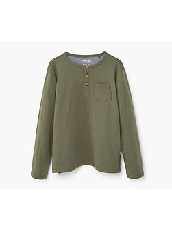 Boys Henley cotton t-shirt