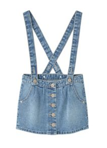 Mango Girls Medium denim pinafore dress