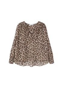 Mango Lightweight animal print blouse