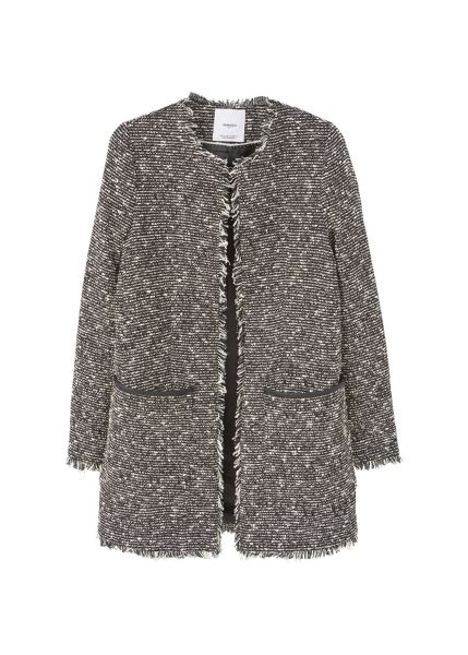 Mango Frayed coat