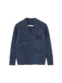 Boys Flecked cotton-blend cardigan