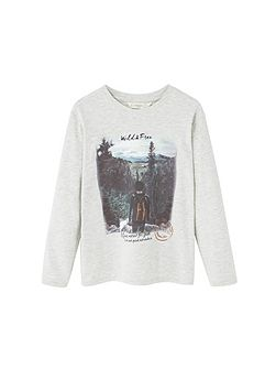 Boys Image cotton t-shirt