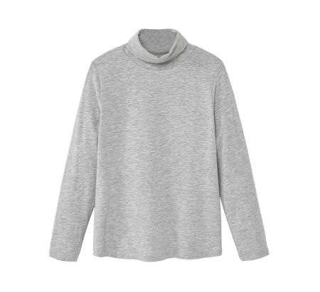 Mango Girls Turtleneck cotton t-shirt