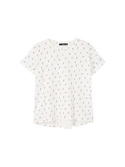 Printed cotton t-shirt