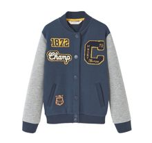 Mango Boys Decorative patches varsity jacket