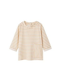Girls Chest-pocket striped t-shirt
