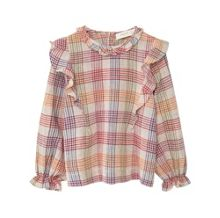 Mango Girls Checked frills shirt