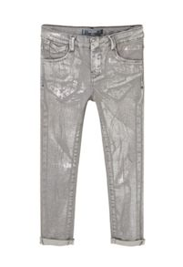 Mango Girls Metallic-effect slim jeans