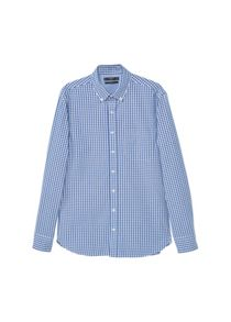 Mango Slim-fit gingham check shirt