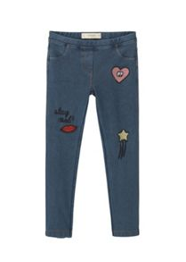 Mango Girls Patch denim leggings