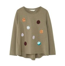 Mango Girls Embroidered sequin -shirt