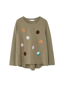 Girls Embroidered sequin -shirt
