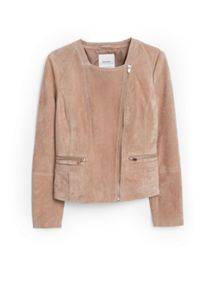 Zipped suede jacket