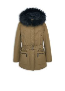 Mango Cotton hooded coat