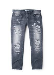 Cropped relaxed jeans