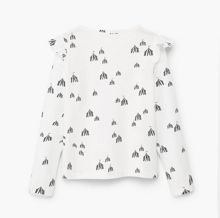 Mango Girls Ruffled detail t-shirt