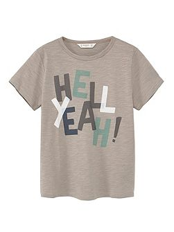 Boys Message cotton t-shirt