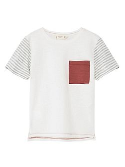 Boys Flecked striped t-shirt