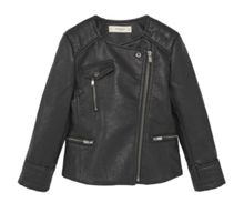 Mango Girls Zipped biker jacket
