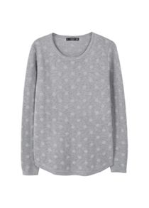 Mango Polka-Dot Cotton-Blend Sweater