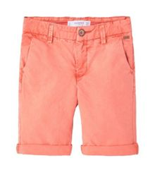 Mango Boys Washed cotton-blend bermuda shorts