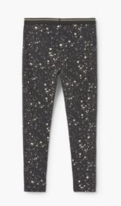 Mango Girls Printed cotton leggings