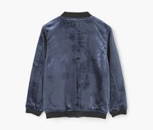 Mango Girls Velvet bomber jacket