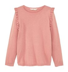 Mango Girls Ruffled cotton sweatshirt