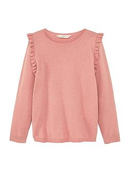 Girls Ruffled cotton sweatshirt