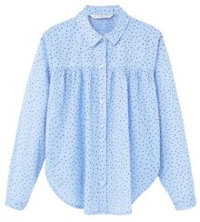 Mango Girls Ruffled cotton shirt