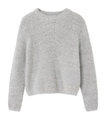Mango Girls Flecked cotton-blend sweater