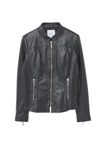 Mango Stitched Leather Jacket
