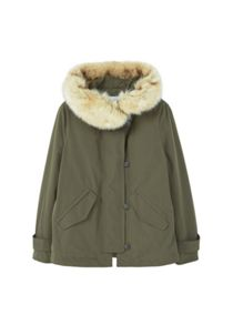 Mango Faux-Fur Quilted Parka