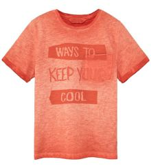 Mango Boys Distressed-effect message t-shirt