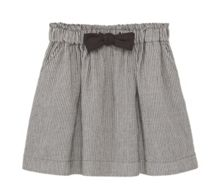 Mango Girls Striped cotton skirt
