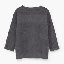 Mango Girls Textured cotton-blend sweatshirt