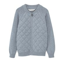 Mango Boys Zipped cotton cardigan