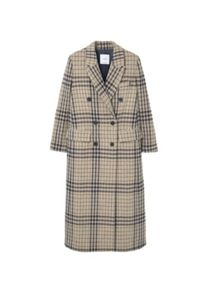 Mango Check wool-blend coat