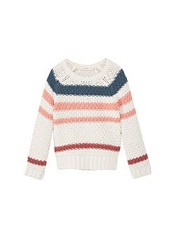Girls Tricolor cotton sweater