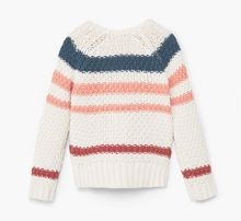 Mango Girls Tricolor cotton sweater